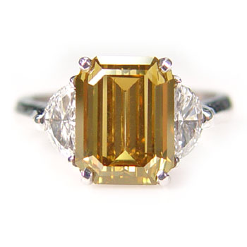 View 3.24ct Fancy Yellow-Brown Diamond Ring