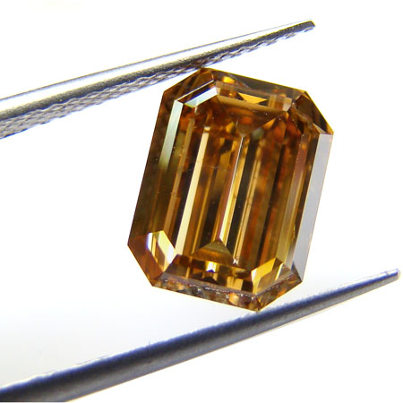 View 3.24 ct. Emerald Cut Fancy Yellow-Brown