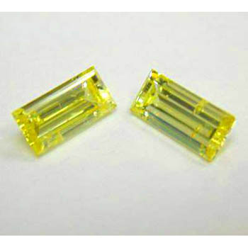 View 2.27 ct. Baguette Fancy Intense Yellow (pair)