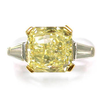 View 4.38ct Fancy Yellow Diamond Ring
