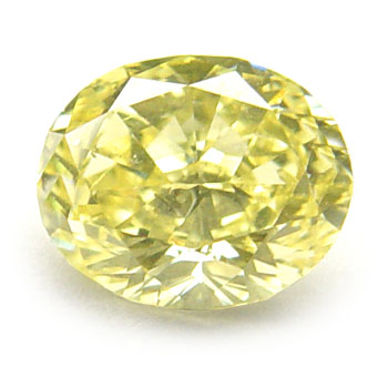 View 0.91 ct. Oval Fancy Intense Yellow