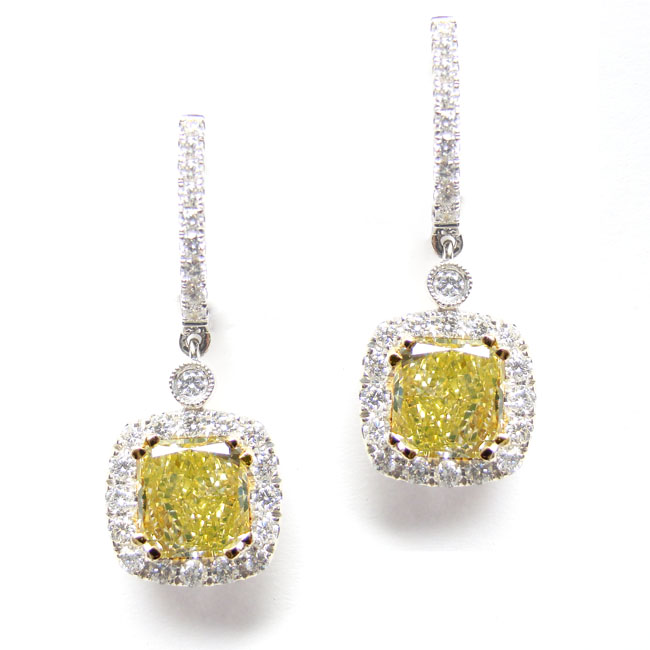 Fancy Greenish Yellow (Pair) Diamond