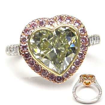 View 3.01ct Green Diamond Ring