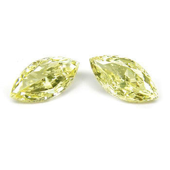 View 2.05 ct. Marquise Fancy L. Yellow (pair)