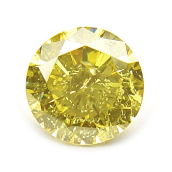 View 0.9 ct. Round Fancy Deep Yellow