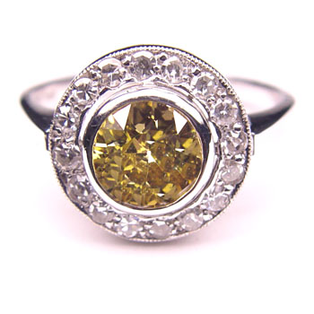 View 1.68 ct. Round Fancy Brown-Yellow
