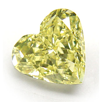 1 Heart Shape Fancy Yellow