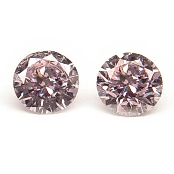 View 0.4 ct. Round Fancy L. Pink (pair)