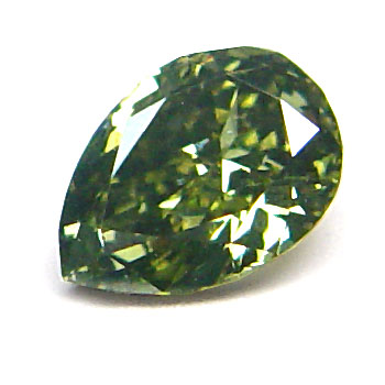 View 0.5 ct. Pear Shape Fancy G. Greenish Yellow Chameleon