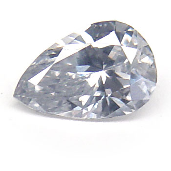 View 0.83 ct. Pear Shape Fancy L. Gray-Blue