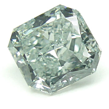 View 0.84 ct. Radiant Fancy Bluish Green
