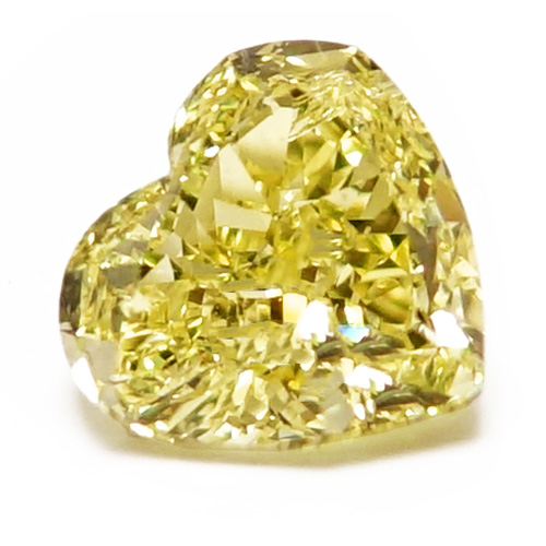 View 1.3 ct. Heart Shape Fancy Yellow