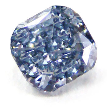View 0.53 ct. Cushion Fancy Intense Blue