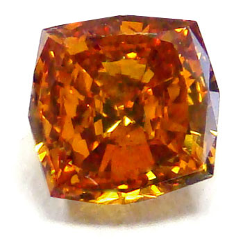 View 0.66 ct. Radiant Fancy Deep y. Orange