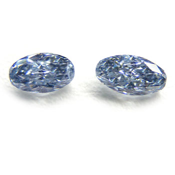 View 0.55 ct. Oval Fancy Blue (pair)
