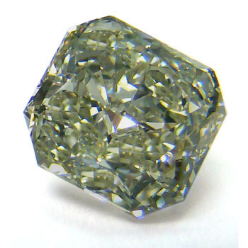 View 1.74 ct. Radiant Fancy g. y. Green