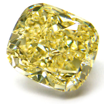 View 5.15 ct. Cushion Fancy Yellow