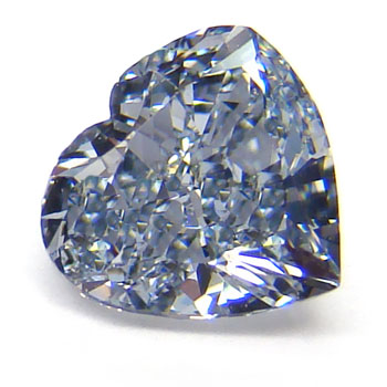 View 0.76 ct. Heart Shape Fancy Grayish Blue