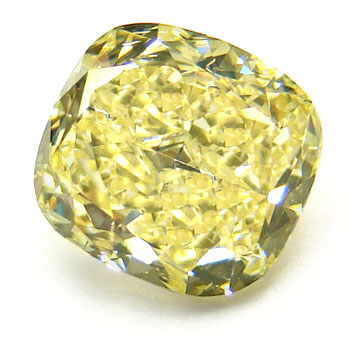 View 1.03 ct. Cushion Fancy Yellow