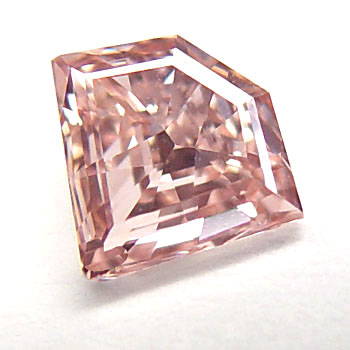 View 0.62 ct. Kite Shape Fancy Orangy Pink