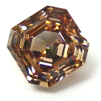 View 1.17 ct. Emerald Cut Fancy Orange-Brown