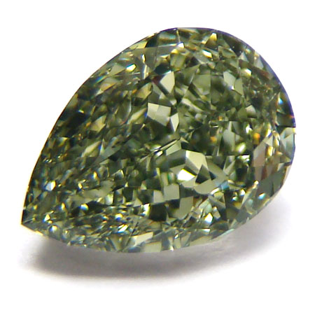 View 1.64 ct. Pear Shape Fancy g. y. Green