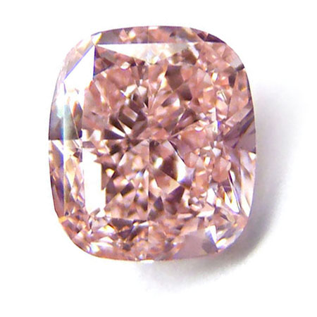 View 1.05 ct. Cushion Fancy Orangy Pink (Flawless)