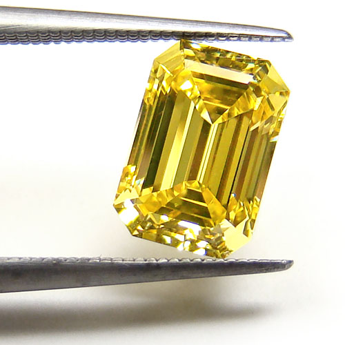 cut diamond scher ring fancy emerald yellow products