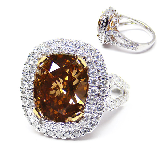 View 3.21 ct. Oval Fancy Deep o. Brown