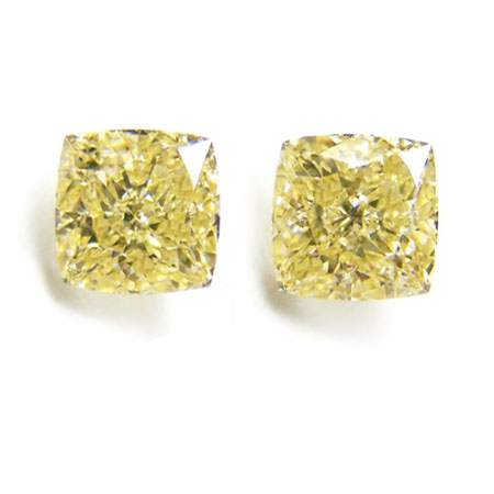 View 2.13 ct. Radiant Fancy Yellow (Pair)