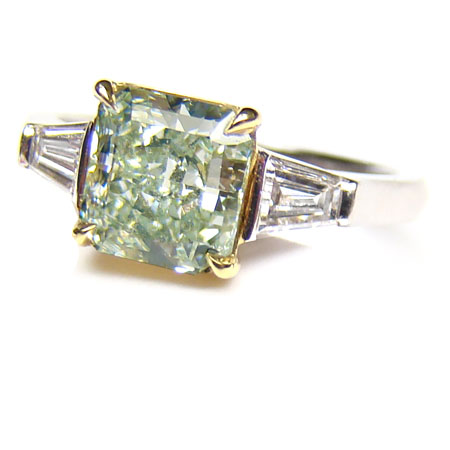View 1.51 ct. Radiant Fancy Green