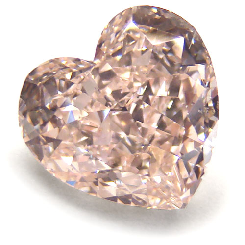 View 3.01 ct. Heart Shape Fancy Brownish Pink