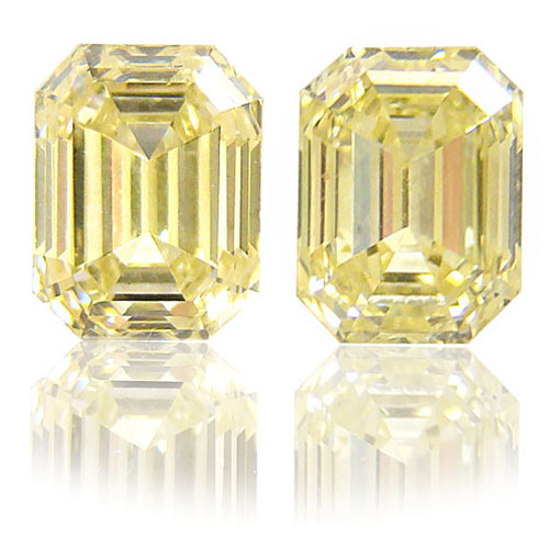 View 2.03 ct. Emerald Cut Fancy Light Yellow (Pair)