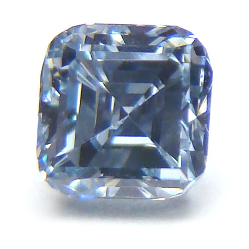 View 0.41 ct. Emerald Cut Fancy Blue