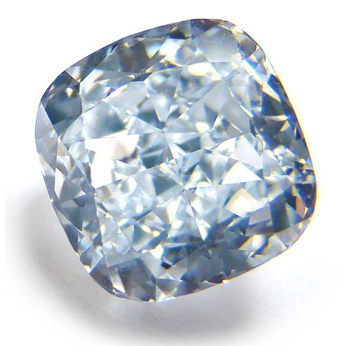 View 2.02 ct. Cushion Fancy Light Blue