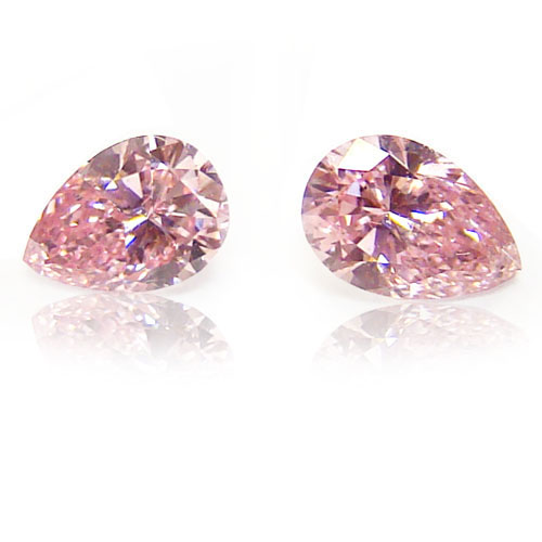 View 0.47 ct. Pear Shape Fancy Pink (Argyle - Pair)