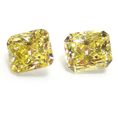 View 2.02 ct. Radiant Fancy Intense Yellow (Pair)