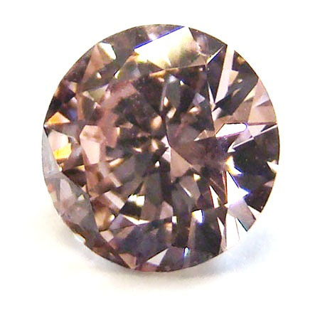 View 1.01 ct. Round Fancy Pinkish Brown