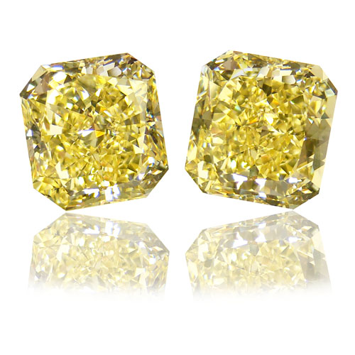View 7.16 ct. Radiant Fancy Intense Yellow (Flawless/Flawless)