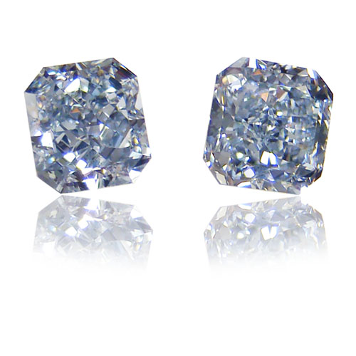 View 1.22 ct. Radiant Fancy Blue (PAIR)