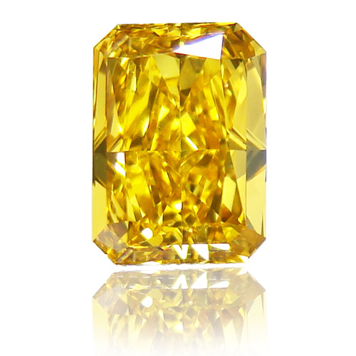 View 1.33 ct. Radiant Fancy Deep Yellow