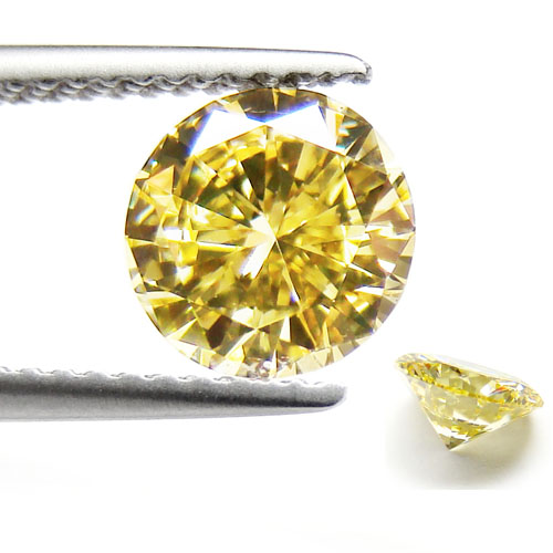 View 1.07 ct. Round Fancy Intense Yellow