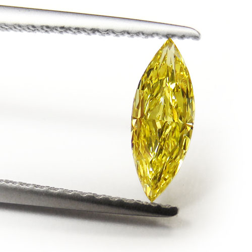 View 0.5 ct. Marquise Fancy Vivid Yellow
