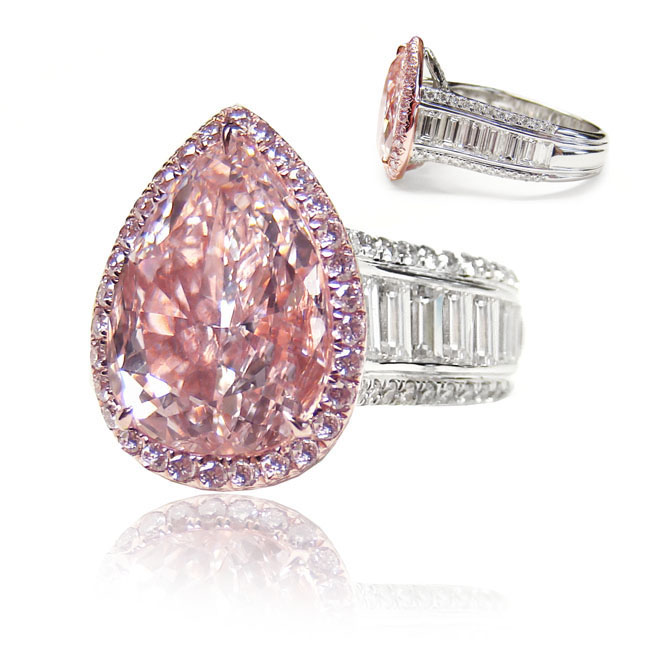 ring pink diamond light