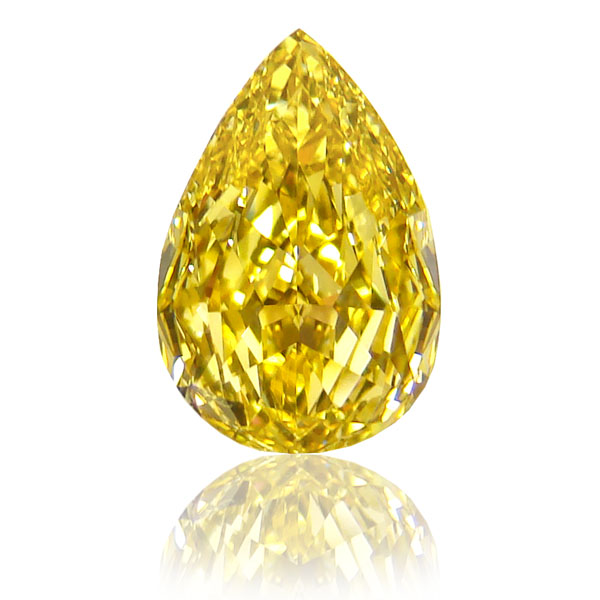 View 2.02 ct. Pear Shape Fancy Vivid Yellow