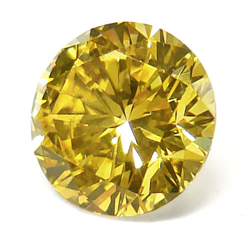 View 0.94 ct. Round Fancy VIVID Yellow