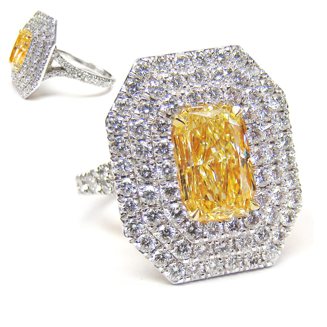 View 2.01 ct. Radiant Fancy Yellow