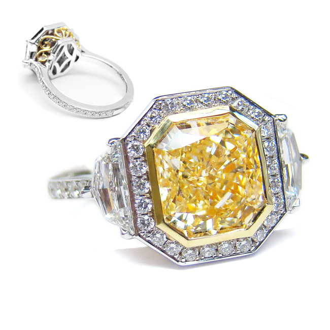 View 3.08 ct. Radiant Fancy Yellow (Flawless)