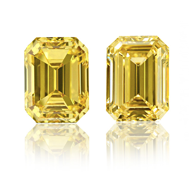 cut colored pair vivid fancy yellow and emerald cfm diamonds pink details search natural diamond