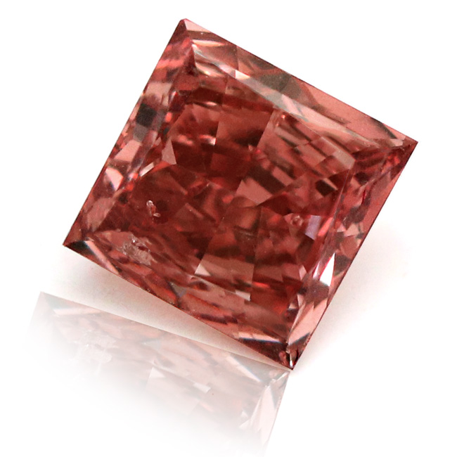 View 0.57 ct. Princess Cut FANCY RED (ARGYLE)